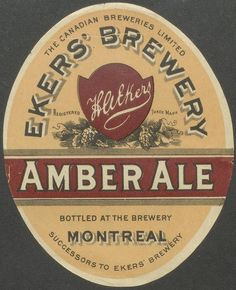 Ekers' Brewery Amber Ale by Thomas Fisher Rare Book Library, via Flickr