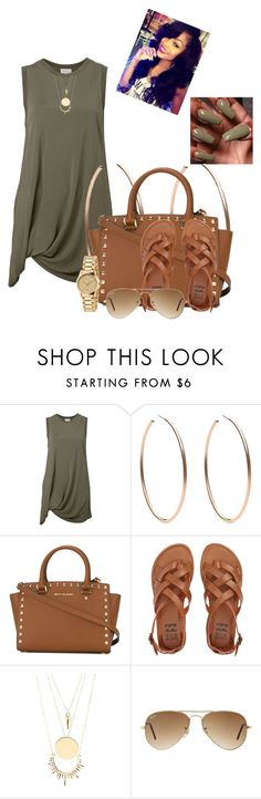 """""""9/21"""" by nunumb ❤ liked on Polyvore featuring Witchery, Michael Kors, MICHAEL Michael Kors, Billabong, Charlotte Russe, Ray-Ban and Gucci"""