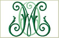 Two letter intertwined monograms from Anna Bove