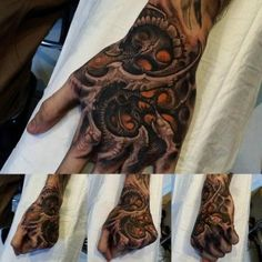 hand tattoo organical