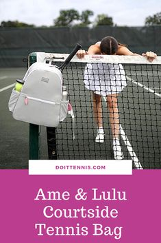 Grab your gals and get to the court! Made out of a lightweight structured nylon, this backpack is easy to clean and is the perfect size to carry all of your tennis gear, without being too big or bulky. #girlsfashion #womenfashion #tennis #tenniscourt #shopping #shoppingonline #bagsandpurses