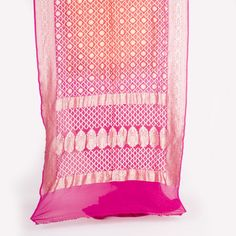 Bandhej Handwoven Banarasi Silk Sari 1012469 - Sari / All Saris - Parisera