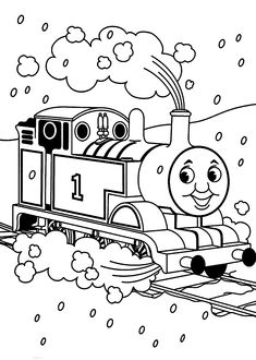 thomas and friends coloring pages landscape for kids printable free - Thomas Friends Coloring Pages