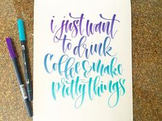 From /lshannondesigns/ - Hope everyone has a great Sunday! ☕️ #coffee #art #lettering #handlettering #tombowusa #tombowpro #tombowdualbrushpens #ijustwanttodrinkcoffeeandmakeprettythings