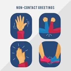 Non-contact greetings for protection Vector ,