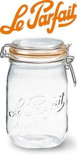 Le Parfait French Super Canning Jars With Bail Lid - 34 oz / 1 liter