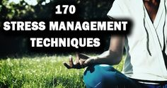 170 Stress Management Techniques Managing stress is something that we all have difficulty with. We encounter stress triggers every single day of our lives. Whether it's work, family, or school, stress is always present and waving it's ugly hand in our direction. Despite the way it might seem, stress doesn't have to rule your life.