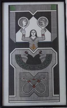 Samico - Xilogravura original assinada, numerada e data..