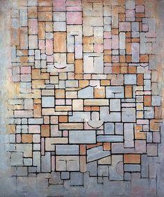 Composition No. 7 (Facade) - Piet Mondrian, 1914