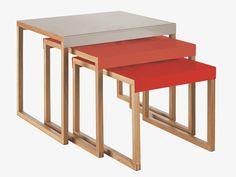 Habitat | KILO GREYS Metal Multi-coloured metal nest of 3 side tables | £75 (in store / £4.95p&p)
