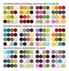 Combinacion de colores por tipo de habitación