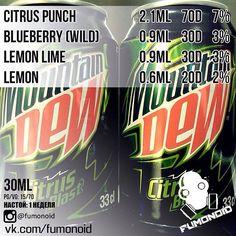 "182 Likes, 8 Comments - Fumonoid Mixes (@fumonoid) on Instagram: ""#fumonoid #mountaindew #mtndew #citrusblast #energy #pepsi #tpa #vape #vapor #vaping #пар #парение…"""