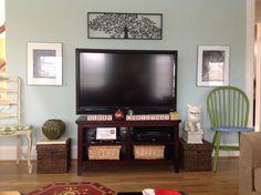 Tv wall in den