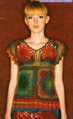 Crochet top (8 large squares...)