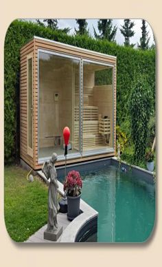 People have been enjoying the benefits of saunas for centuries. Spending just a short while relaxing in a sauna can help you destress, invigorate your skin Swimming Pool House, Cool Swimming Pools, Swimming Pool Designs, Outdoor Sauna, Jacuzzi Outdoor, Outdoor Decor, Modern Saunas, Building A Sauna, Gardens