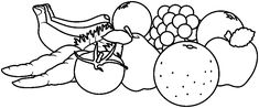 Vegetables And Fruits Clipart Black And White Pin By Ann Judd On Human Body Vegetable Coloring Pages in 2020 Clipart black and white Black and white drawing Clip art