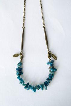 Boho long collier collier de pierres brutes guérison par LeOcty
