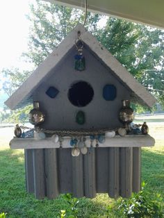 I like to bling up my bird houses..