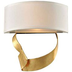 "Avalon 12"" High Roman Gold 2-Light Left Wall Sconce - #1W262 