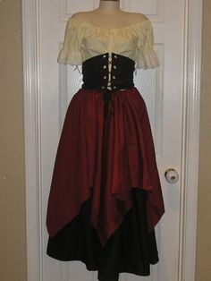 homemade Medieval Costumes For Women | Order for Ali Women Renaissance Wench Pirate Costume with Waist ...