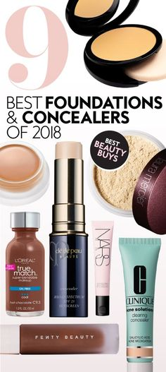 These pro-approved picks will become your new staples. #foundation #concealer #bestfoundatoins #bestconcealers #bestbeautyproducts