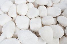 "Amazon.com : Rainforest 0.5"" to 1.5"" Small Margo Decorative River Rocks Pebbles, 20 lb, Snow White : Patio, Lawn & Garden"