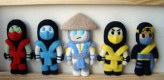Mortal Kombat - Scorpion - Sub Zero - Raiden - Ermac - Takeda - ninja (Choose One or by set) - game - Needle felting - chibi by GeekAndGamersCrafts on Etsy https://www.etsy.com/au/listing/232748679/mortal-kombat-scorpion-sub-zero-raiden