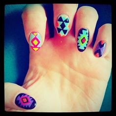 Bonnie McKee's Aztec Nails!