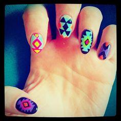 Bonnie McKee's Aztec Nails!