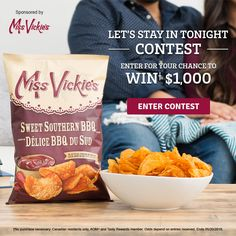MISS VICKIE'S® LET'S STAY IN TONIGHT CONTEST