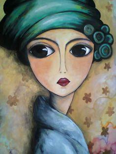Romi Lerda Arte Pallet, Abstract Face Art, Art Visage, Frida Art, Arte Pop, Naive Art, Whimsical Art, Portrait Art, Indian Art