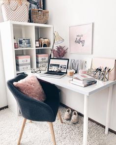 "3,154 Likes, 62 Comments - makayla mcafee (@fashionablykay) on Instagram: ""Monday mornings like this... Love waking up to a clean home/office space. Ready to take on the…"""