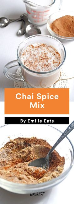 edible gifts: Chai Spice Mix (and others. Diy Holiday Gifts, Christmas Gifts, Diy Gifts, Christmas Ideas, Christmas Decorations, Holiday Decor, Chocolate Shake, Edible Gifts, Christmas Cooking