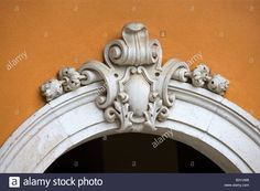 Carved Stone Cartouche Above Doorway In Madeira, Portugal Stock Photo, Royalty Free Image: 19661860 - Alamy