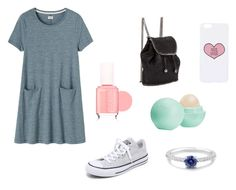 """""""Shopping"""" by kittykitkat132 ❤ liked on Polyvore featuring Converse, Toast, Essie, STELLA McCARTNEY, Eos, Topshop and BERRICLE"""