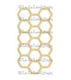 "La-La Land Die-Honeycomb, 3.75""X2"""