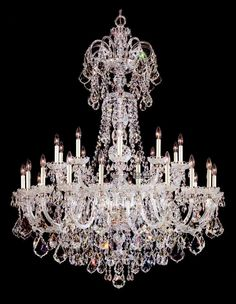 Aliexpress.com : Buy FREE SHIPPING Chandelier sales hall 30 Lights bohemian crystal chandelier with chrome plated B9118 120cm W x 155cm H from Reliable chandelie suppliers on HK SUNWE LIGHTING CO., LTD.