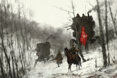"""Olga and Changa"" by Jakub 'Mr. Werewolf' Rozalski - House of Roulx"