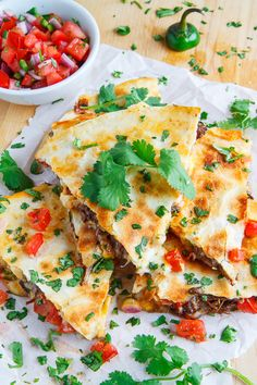 Use your leftover barbacoa in this delicious Barbacoa Quesadilla recipe at Closet Cooking.