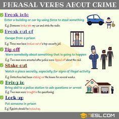 Phrasal Verbs about Crime