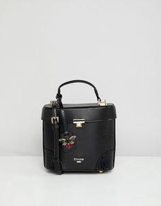 e0c9db464b Dune - Maxi borsa a mano squadrata a secchiello nera | ASOS Borse Nere,  Accessori