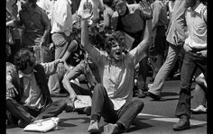 May 9, 1972: Basketball player Bill Walton, fresh from an undefeated college championship run with UCLA, joins in an antiwar protest in Westwood. At the campus demonstration, he encouraged fellow protesters to sit in an intersection on Wilshire Boulevard.