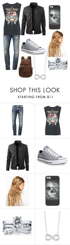 """""""Untitled #46"""" by crystal-haigler ❤ liked on Polyvore featuring mode, Jack & Jones, Converse, ASOS, BERRICLE et Argento Vivo"""