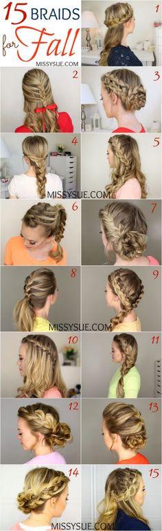 15 Braids for Fall   http://MissySue.com