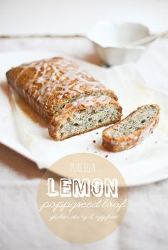 LEMON POPPYSEED LOAF (GLUTEN, DAIRY AND EGG FREE STARBUCKS CAKE)