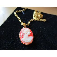 "New Listing Started vintage oval goldtone faux cameo pendant on 18""chain in excellent condition £1.29"
