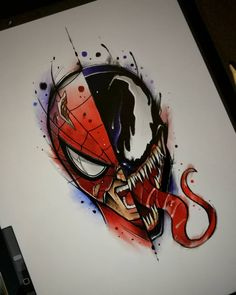 provides fancy and cheap silly t shirts, interesting t shirts and t shirt buy online with a large variety can be choose here on our website. Various kinds of spider man venom t-shirt mannen en vrouwen tee maat s ~ xxxl are gathered here. Cool Art Drawings, Art Drawings Sketches, Disney Drawings, Art Sketches, Spiderman Art, Spiderman Tattoo, Arte Disney, Disney Art, Marvel Drawings