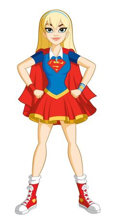 Supergirl or Supes for short, real name Kara Zor-El, is a main character and the cousin of Superman. The Kind One Supergirl is so a-dork-able and totally out there. She is the most powerful teen on earth…if only she could stop tripping over her own feet. Dc Super Heros Girl, Super Hero High, Super Girls, Marvel Dc, Harley Quinn, Superman, Girl Superhero Party, Cartoon Superhero Girl, Supergirl Dc