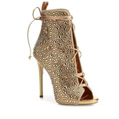 Giuseppe Zanotti JLo 110 Crystal-Embellished Suede Lace-Up Booties ($3,170) ❤ liked on Polyvore featuring shoes, boots, ankle booties, heels, apparel & accessories, suede bootie, suede lace-up booties, lace up booties, suede peep toe booties and lace up boots