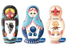 Illustration by Ilona Partanen for Valio, 2014